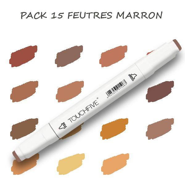 Pack de 15 Feutres Marron