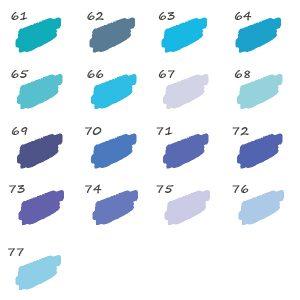 Pack de 17 Feutres Bleu