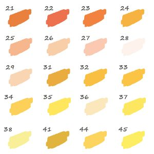 Pack de 20 Feutres jaune 1