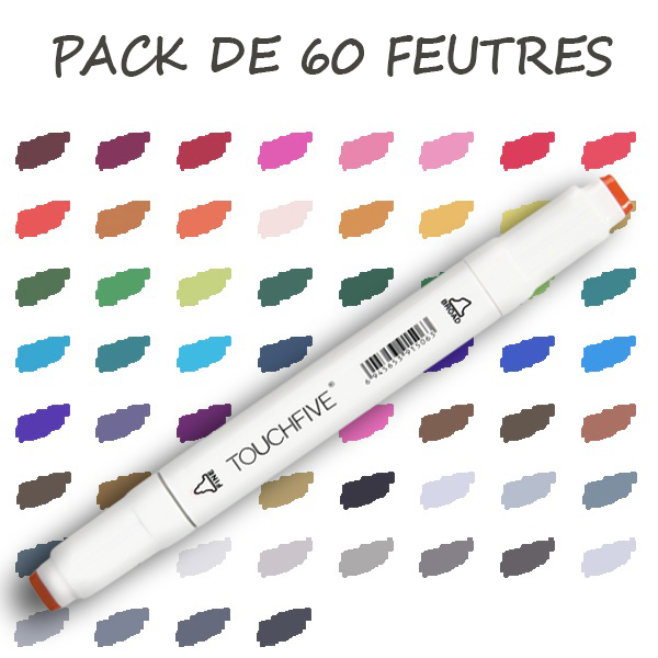 pack 60 feutres standard 1