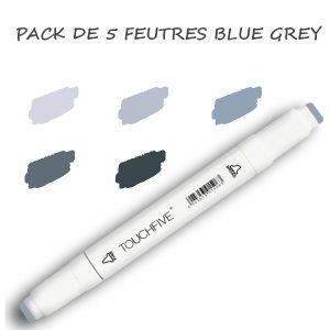 pack FEUTRES BLUE GREY