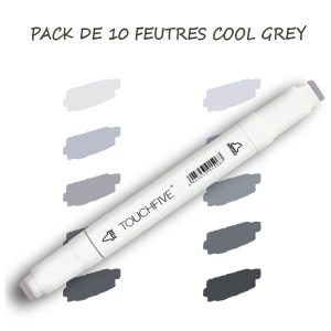 pack 10 feutres cool grey