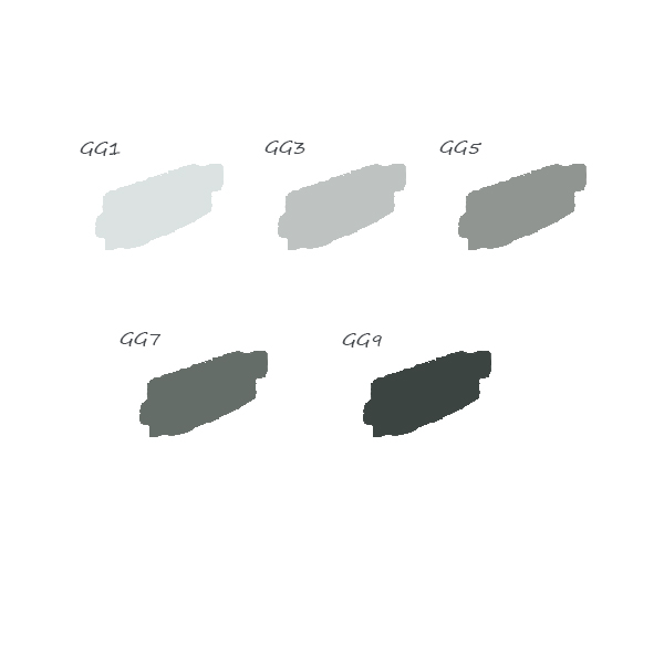 pack 5 feutres green gray